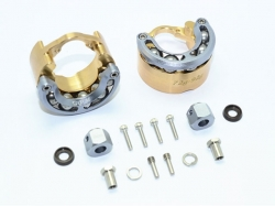 BRASS PENDULUM WHEEL KNUCKLE AXLE WEIGHT WITH ALLOY LID Gr..