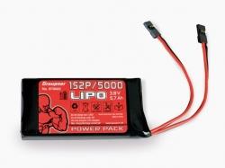 Senderakku LiPo 5000mAh 3.8V 1S2P Graupner (Hochvolt)