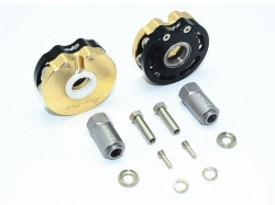 BRASS PENDULUM WHEEL KNUCKLE AXLE WEIGHT WITH ALLOY LID Sc..