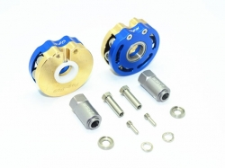 BRASS PENDULUM WHEEL KNUCKLE AXLE WEIGHT WITH ALLOY LID Bl..