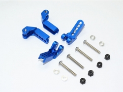 ALUMINUM ADJUSTABLE F/R DAMPER MOUNT Blau -16PC SET