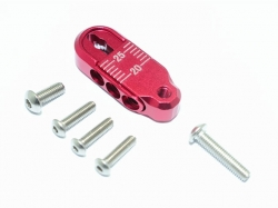 ALUMINUM ADJUSTABLE SERVO HORN (20-25MM) Rot -7PC SET