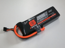 Spektrum 2200mAh 3S 11.1V 30C Smart LiPo, IC3