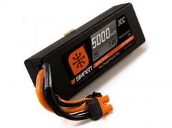 Spektrum 5000mAh 2S 7.4V 30C Smart LiPo, IC3, Hardcase