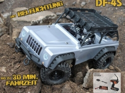 DF-4S Scale-Crawler Silber 1:10 mit Beleuchtung 4WD RTR, R..