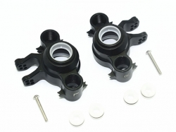 ALUMINUM FRONT/REAR KNUCKLE ARMS Schwarz -8PC SET