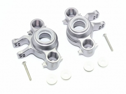 ALUMINUM FRONT/REAR KNUCKLE ARMS Grau -8PC SET