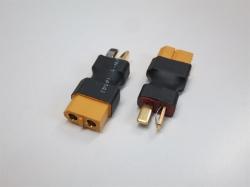 Adapter T-Plug Stecker auf XT60 Buchse, 2Stk