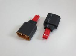 Adapter XT60 Stecker auf JST Buchse, 2Stk