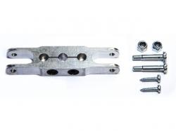 Klemm-Mittelteil 66mm, Bohrung 8mm zu HE Spinner