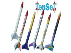 Modellraketen TenSeT 465x26mm, 60g, 55 bis 330m Höhe
