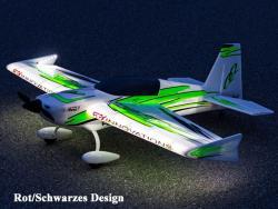 Premier Aircraft QQ Extra 300 V2 1.22m Night Super PNP Rot/Schwarz mit Aura 8