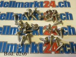 Blechschraube d3x20 mit Linsenkopf und Scheibe 20Stk.