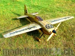 "AeroPlusRC Edge 540 V3 EX 76"" El.Version gold Volkswagen-Design"