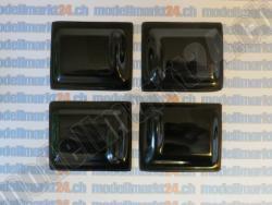 4Stk. Servoabdeckungen 60x50 Schwarz zu RCRCM Modellen