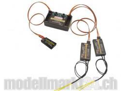 Jeti Central Box 200 + 2x Rsat2 und RC-Schalter