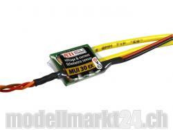 Jeti MUI30EX Spannungs- und Stromsensor 60V/30A für Duplex 2.4GHz System