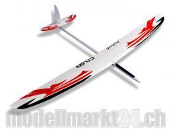 RCRCM Cylon GFK Spw 2m Weiss/Rot mit Schutztaschen, RC Modellflugzeug