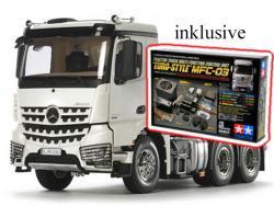 Tamiya Mercedes Benz Arocs 3363 6x4 CL.Space RC-Truck 1:14 Bausatz inkl. Multifunktionseinheit MFC-03