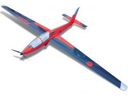 Tomahawk MDM-1 Fox 3.5m Elektro PNP Rot/Schwarz Voll Gfk, RC-Modellflugzeug