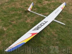RCRCM Toba F3B Spw.3,085m GFK Weiss/Rot/Gelb/Blau mit Schutztaschen