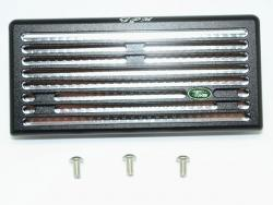ALUMINUM FRONT GRILL Schwarz/Silber for Traxxas TRX-4 DEFENDER
