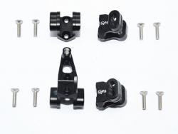 ALUMINUM FRONT/REAR AXLE MOUNT SET FOR SUSPENSION LINKS Schwarz for Traxxas TRX-