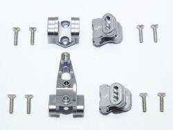 ALUMINUM FRONT/REAR AXLE MOUNT SET FOR SUSPENSION LINKS Silbergrau for Traxxas T