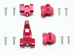ALUMINUM FRONT/REAR AXLE MOUNT SET FOR SUSPENSION LINKS Rot for Traxxas TRX-4 DEFENDER, von GPM-Racing
