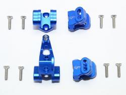 ALUMINUM FRONT/REAR AXLE MOUNT SET FOR SUSPENSION LINKS Blau for Traxxas TRX-4 D