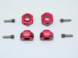 ALUMINUM HEX ADAPTERS 6MM THICK Rot for Traxxas TRX-4 DEFENDER, von GPM-Racing