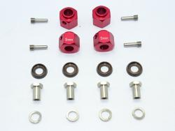 ALUMINUM HEX ADAPTERS 9MM THICK Rot for Traxxas TRX-4 DEFENDER, von GPM-Racing