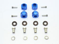 ALUMINUM HEX ADAPTERS 9MM THICK Blau for Traxxas TRX-4 DEFENDER, von GPM-Racing