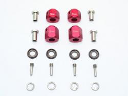 ALUMINUM HEX ADAPTERS 9MM & 12MM THICK Rot for Traxxas TRX-4 DEFENDER, von GPM-R