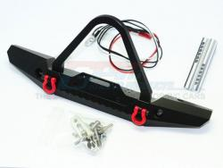 ALUMINUM FRONT BUMPER WITH LED LIGHTS FOR CRAWLERS (B)Schwarz von Roadtech
