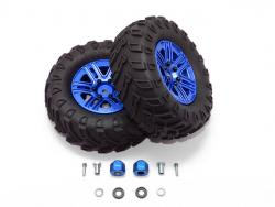 """1.9"""" ALUMINUM 6 SPOKES BBS RIMS WITH ONROAD TIRES AND 9MM THICK ALLOY HEX Blau f"""