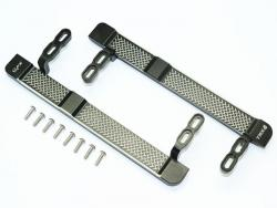 ALUMINUM SIDE STEPS (RETICULATED PATTERN) Schwarz 1/10 Traxxas TRX-4 DEFENDER, v