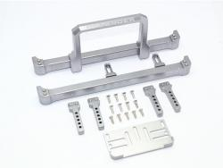 ALUMINIUM FRONT&REAR BUMPER W.WINCH PLATE (ON-ROAD STREET FIGHTER) Silbergrau fo