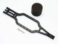ALUMINUM BATTERY HOLD-DOWN Schwarz 1/10 Traxxas TRX-4 DEFENDER, von GPM-Racing
