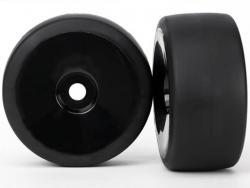 Traxxas 6473 Räder und Reifen, montiert, geklebt, Slick, Hinten