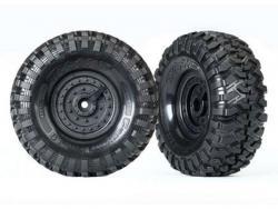 Traxxas 8273 Räder und Reifen, montiert, geklebt (TRX-4 Tactical Räder,1,9 Zoll)