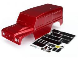 Traxxas 8011R Body, Land Rover Defender, rot lackiert. inkl Dekorbogen
