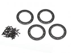 Traxxas 8169T Beadlock-Ringe, schwarz, 1,9Zoll Aluminium 4Stk. für TRX-4