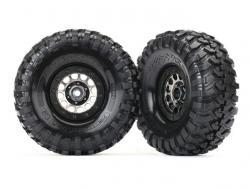 Traxxas 8174 Räder und Reifen, montiert und geklebt, Method 105 schwarz Chrom