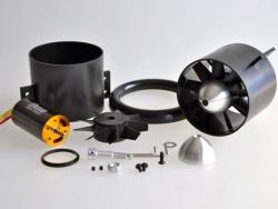 Wemotec Mini Fan evo Impeller/HET 2W20, komplett montiert, feingewuchtet, harm.