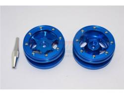 "ALUMINIUM 6 POLES WHEELS FOR 1.9"" TIRE Blau - 1PR"
