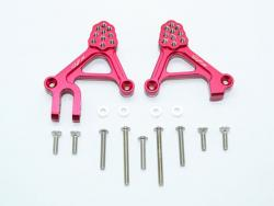 ALUMINUM ADJUSTABLE FRONT DAMPER MOUNT Rot -15PC SET