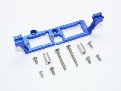 ALUMINUM F&R GEAR BOX 2-SPEED DIFF LOCK SERVO MOUNT Blau -11PC
