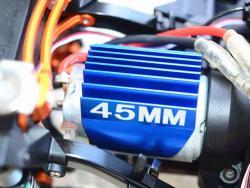 ALUMINIUM MOTOR HEAT SINK MOUNT 45MM Schwarz - 1PC